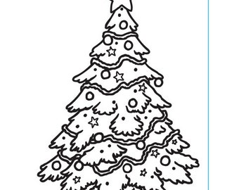 Christmas Tree Embossing Folder for Scrapbooking and Cardmaking by Darice
