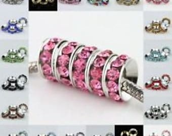 30 Mixed Color Rhinestone Spacers