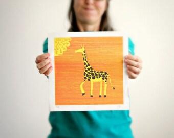 The Giraffe - silkscreen print