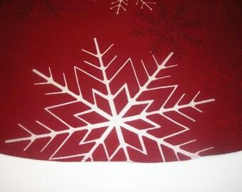 Rustic Christmas Tree Skirt 58 inches Red christmas tree skirt.