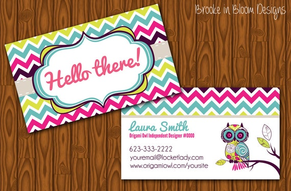 Origami Owl Business Card Example