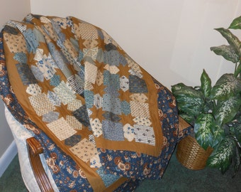 Surrounded and Cuddled by Stars Quilt