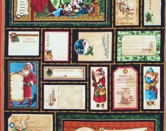 "Christmas Emporium cotton panel -- approximately 23"" x 44"""