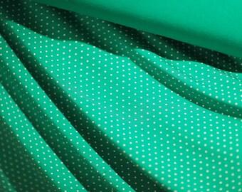 "BAMBOO Spandex Jersey,Bamboo White Dot Knit,Green Jersey,Bamboo Knit, Wedding/Bridesmaid Fabric,YogaWear Fabric,Stretchy Bamboo,59""W by YARD"