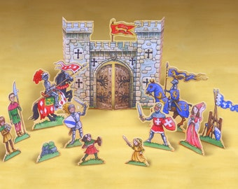 Knights play set printable