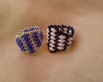 Beading tutorial for Adahir Ring