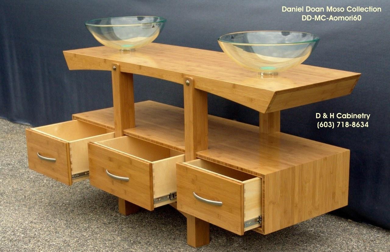 61 Modern Bamboo Bathroom Vanity 3 4 Solid By Dandhcabinetry