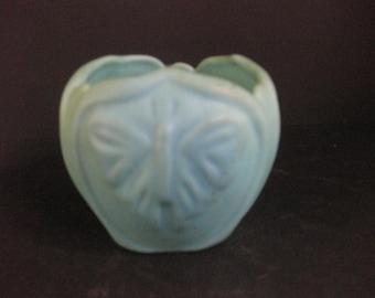 Van Briggle pottery, Ming Blue Luna moth bowl