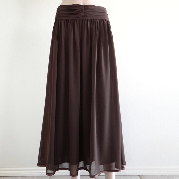 Maxi Skirt. Brown Long Skirt