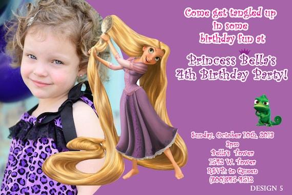 Invitaciones de la princesa Rapunzel - Imagui