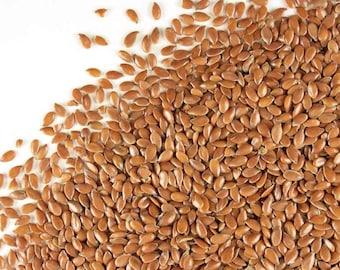 Organic Flax Seeds 16 oz. (1 lb) Linum usitatissimum