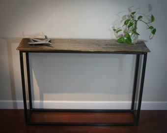 Modern Industrial Reclaimed Welcome Entry Table