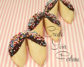 12 Chocolate Dipped Custom Fortune Cookies, Weddings, Baby Announcement, Corporate Events, Party Favors, Birthday Favors, Wedding Favors
