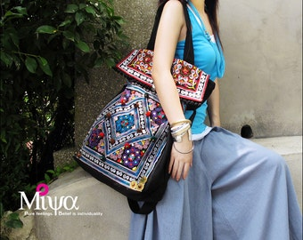 Miya's Original Ethnic Hmong Embroidered Bag Purse Shoulderbag - Lost