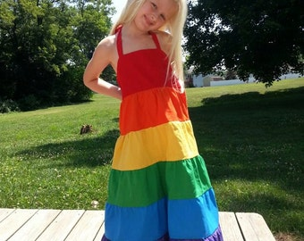 Rainbow Dress Maxi