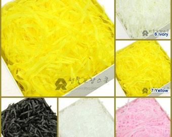Tissue paper Shred, Filler, Stuffing 5 oz(150g) , 10 different color tissue paper shred, tissue paper filler, tissue paper stuffing for gift