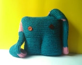 Pink, Petroleum Blue Big Ears Corisko is a plush with really long ears.