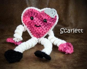 Scarlett Valentine - crochet valentine heart character