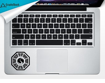 Dharma Initiative Trackpad Decal Vinyl Laptop Decal Mac Stickers Decals Mac Arm Rest Trackpad Decal