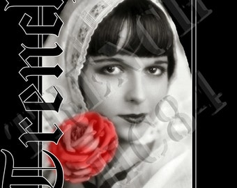 Original Louise Brooks Silent Movie Actress Black Tank or Tee Shirt