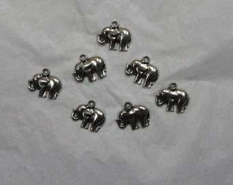 10 Elephant Charms #44