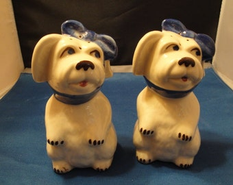 Rare Shawnee Range Size Shakers - Muggsy The Tooth Ache Dog Excellent True Set