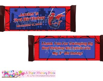 Spiderman Candy Wrapper - DIY Printable
