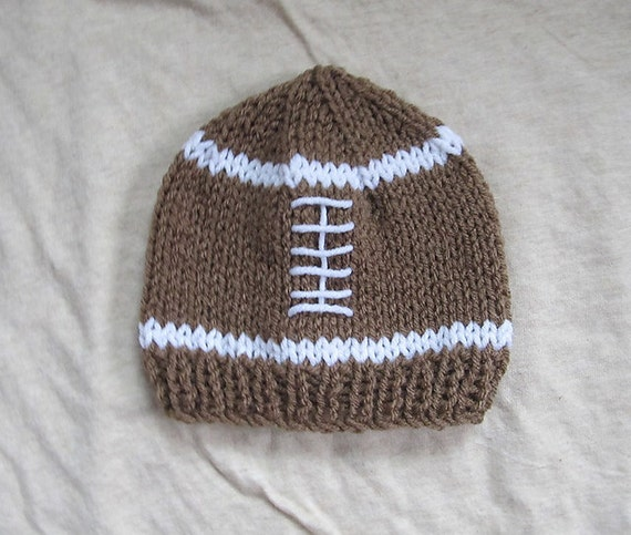 Items similar to Football Hat - PDF PATTERN - newborn baby toddler knit photo...