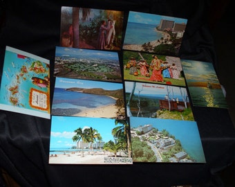 10 vintage Hawaii postcards  possible from 1950's 1960's  most of them are unused  LOT # 2