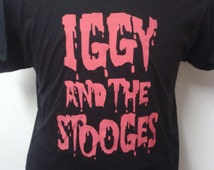 Iggy And The Stooges Iggy Pop Printed T-shirt Top. Rare Punk Garage Rock Vintage Tour Style