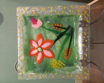 Handmade Decorative Glass Plate