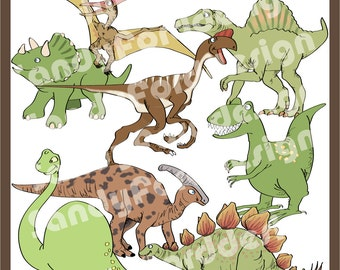 Dinosaur ClipArt Collection - Instant Download