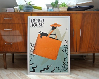 Beach House | A2 screen prints poster | limited edition of 100