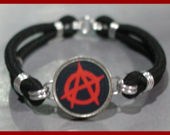 ANARCHY SIGN Dime Stretch Bracelet - One size fits most - Made In USA