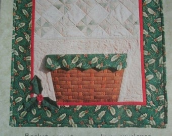 "Quilt Card Basket - Finished Size 23"" x 24"" - Basket can Store Cards or Envelopes - from Quilt Tales - Carla Brinkman #204 NEW QUILT Pattern"
