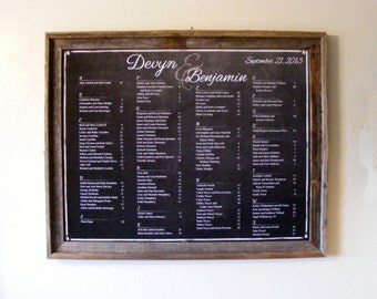 Chalkboard Style Wedding Seating Chart - Downloadable and PRINTABLE file - Custom