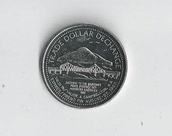 1982 Campbellton NB Canada Proof Trade Dollar
