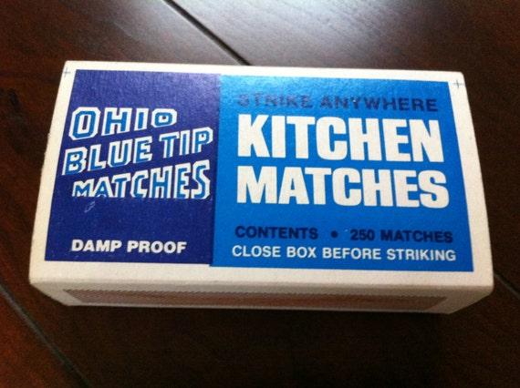 Vintage Ohio Blue Tip Matches 250ct Box Very Rare
