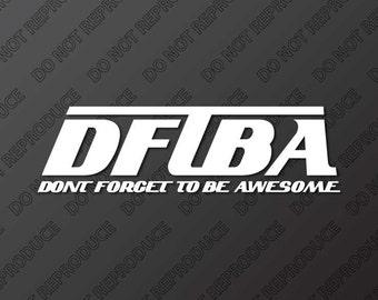 DFTBA  with words Nerdfighter Vinyl Decal