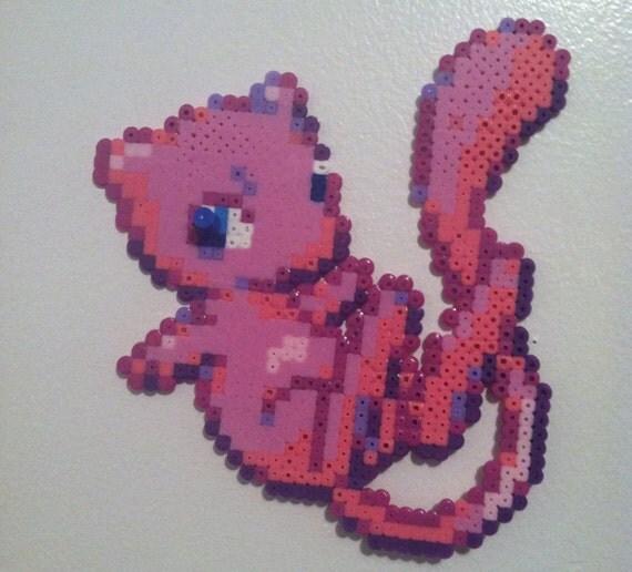 Items similar to mew pokemon 8 bit perler bead decoration for 8 bit decoration
