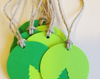 GREEN TREE Favor & Gift Tag (10ct)