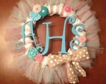 Shabby Chic Tulle Wreath