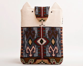 Tribal iPad mini Case, Cat iPad Mini Cover, iPad mini sleeve, cases for iPad, iPad 2 case, iPad, fabric iPad, iPad accessories