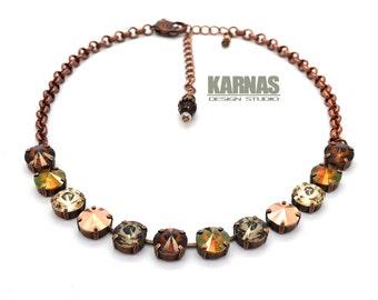 NATURES WONDER 12mm 1/2 Choker Made With Swarovski Crystal *Choose Your Finish *Karnas Design Studio™ *Free Shipping*