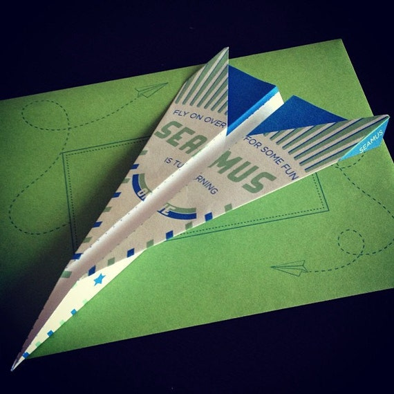 Items Similar To Airplane Birthday Invitation: Items Similar To Paper Airplane Invitation On Etsy