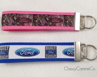 Ford Girl or Ford Built Tough Key Fob Wristlet Key Chain