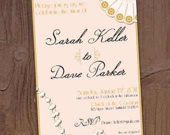 Gatsby 1920's Wedding Invitation