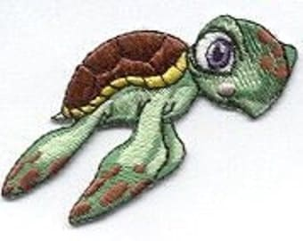 TURTLE, SEA TURTLE, Iron on Patch, Big Eyes, So Cute, transfer, applique, Iron or Sew On patch by Cedar Creek Patch Shop
