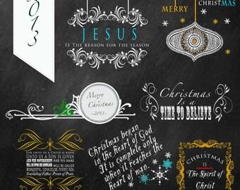 Reason For The Season Christmas overlays