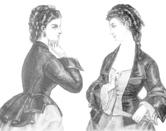 Truly Victorian 1872 Vest Basque TV405 Historical Sewing Pattern